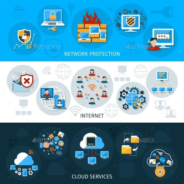 Network Security Banner Set