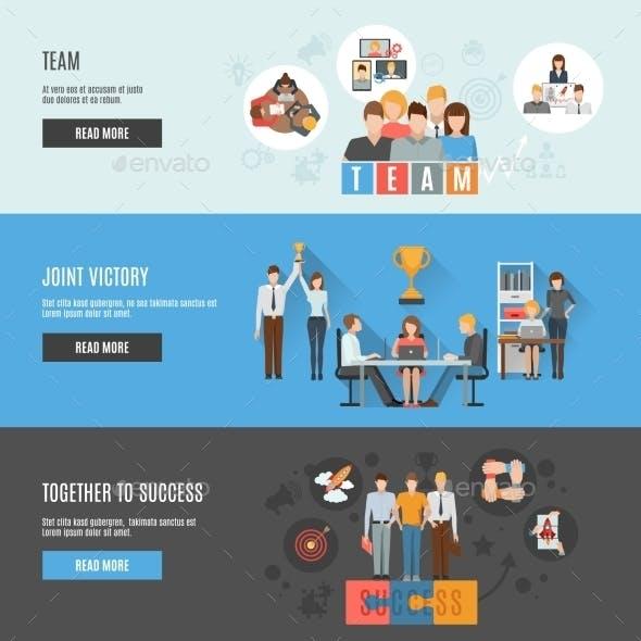 Teamwork Management Flat Interactive  Horizontal