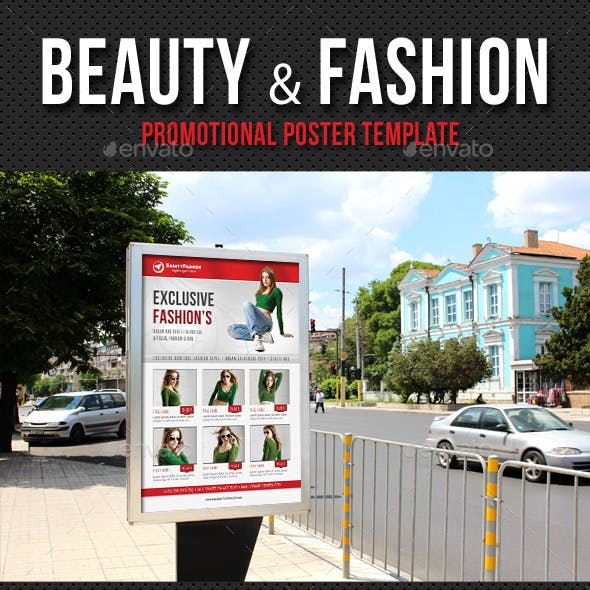 Beauty and Fashion Poster Template V16