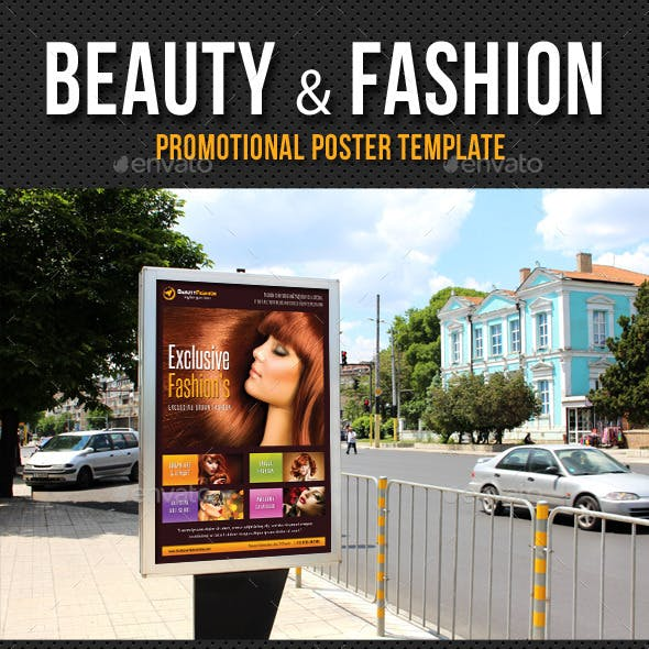 Beauty and Fashion Poster Template V17