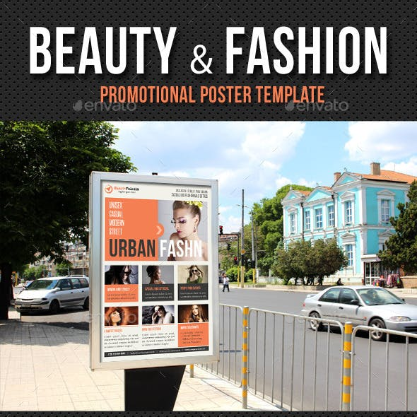 Beauty and Fashion Poster Template V18