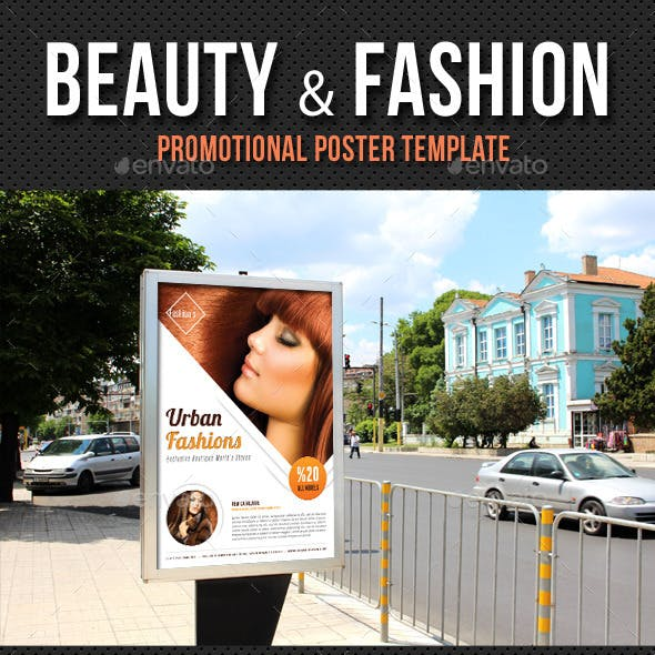 Beauty and Fashion Poster Template V19