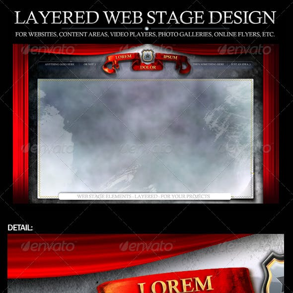 Web Stage area with elements