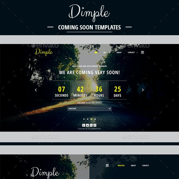 Dimple Coming Soon Template