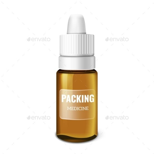 Realistic Packing Vector Template On White