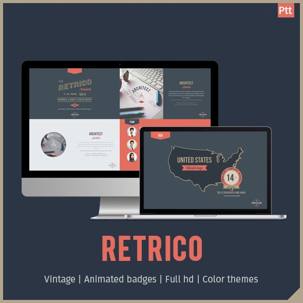 RETRICO - Retro style PowerPoint Template - Miscellaneous PowerPoint Templates