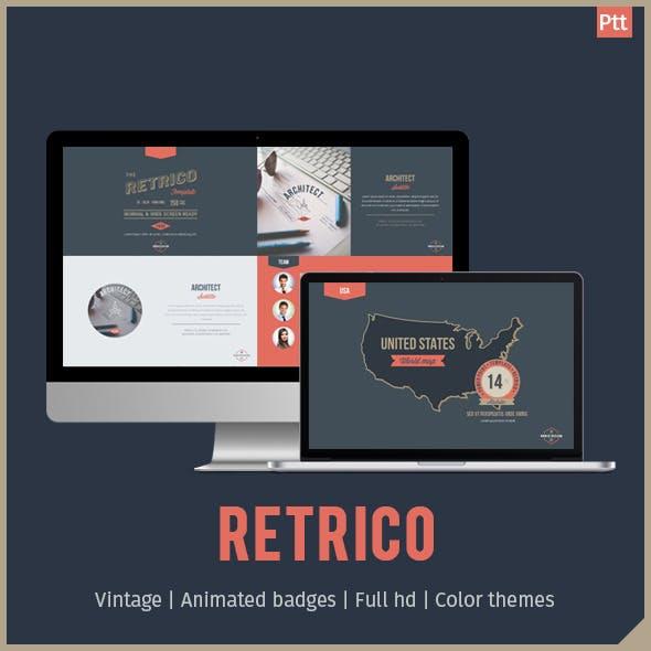 RETRICO - Retro style PowerPoint Template