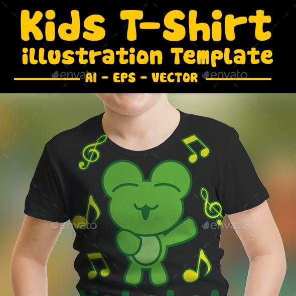 Frog Kids T-Shirt Design