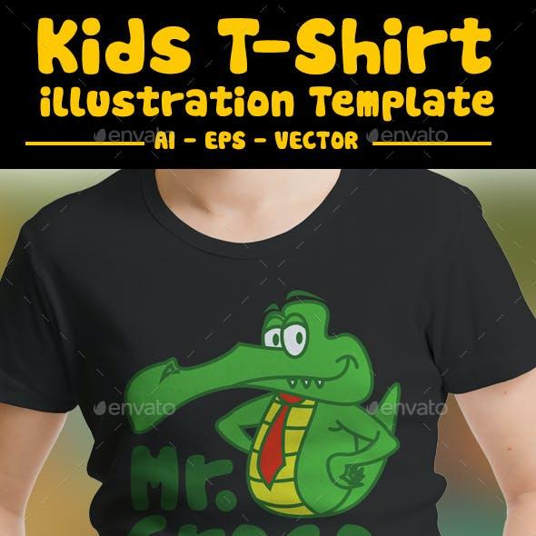 Aligator Kids T-Shirts Design