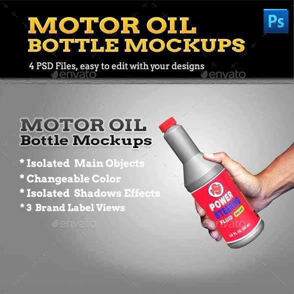 Motor Oil Bottle Mockups