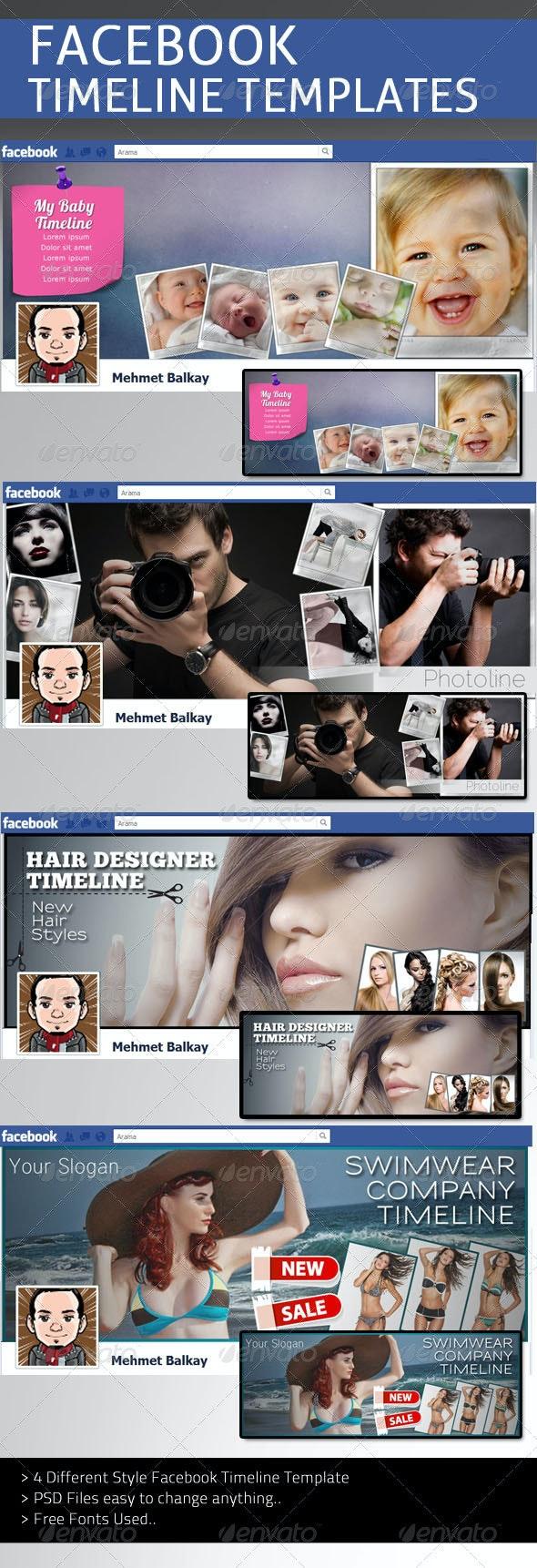 Facebook Timeline Templates V1 - Facebook Timeline Covers Social Media
