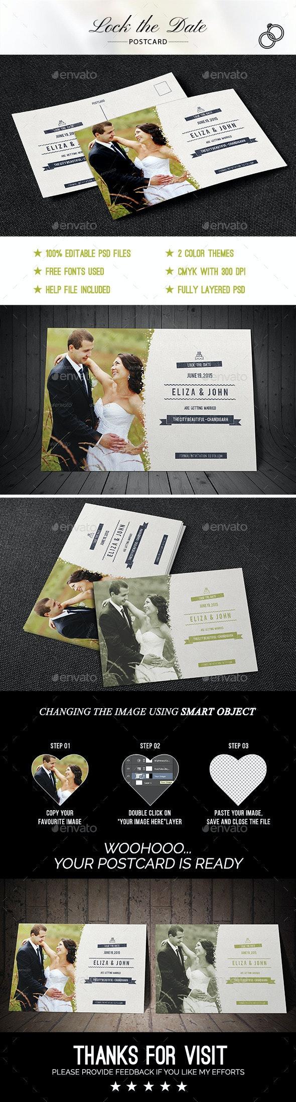WEDDING Postcard - Invitations Cards & Invites