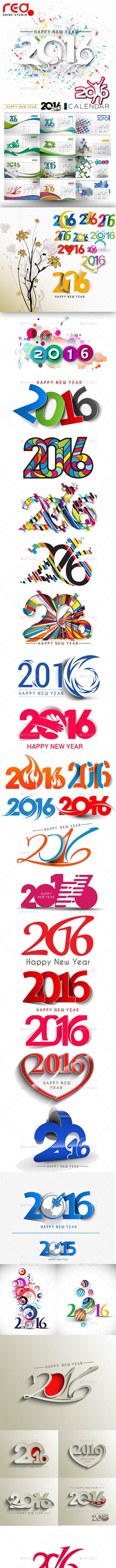 Happy New Year 2016 - 2015 - 2014 - New Year Seasons/Holidays