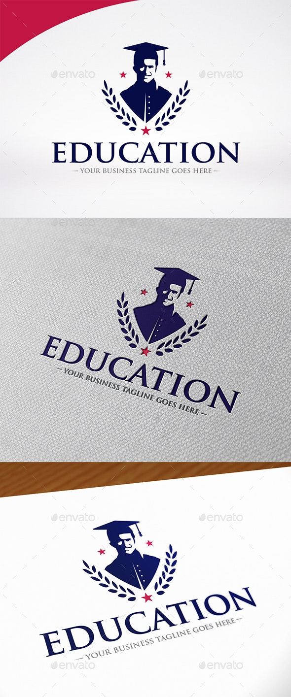 University Education Logo Template - Crests Logo Templates