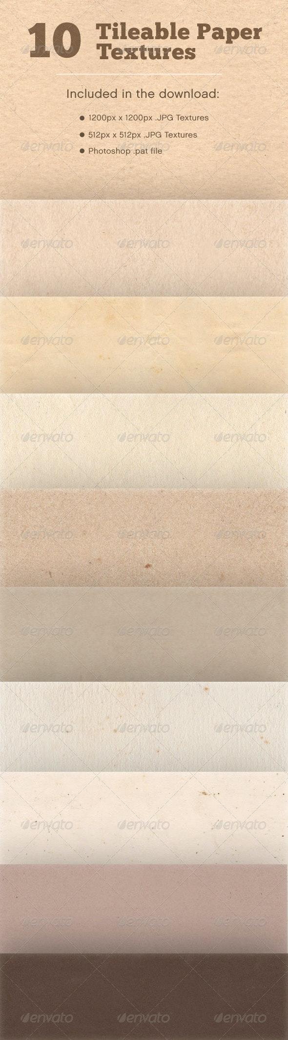 10 Tileable Paper Textures - Paper Textures