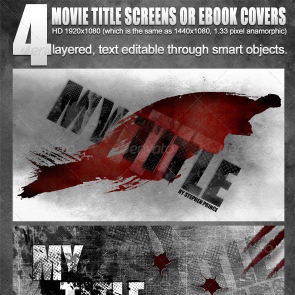 4 Movie Title Screens / eBook covers - 1920x1080HD