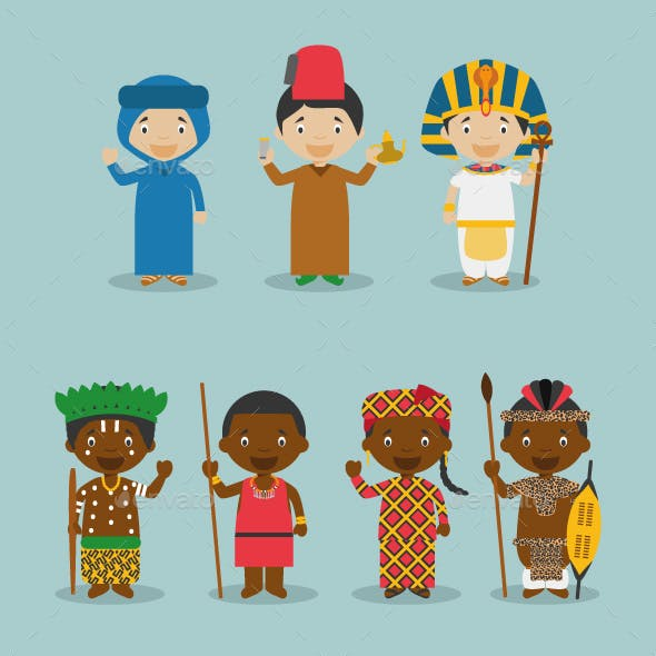 Kids and Nationalities of Africa