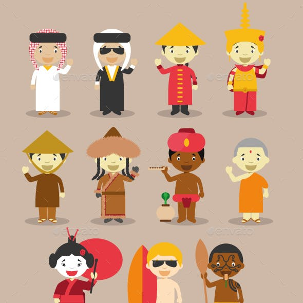 Kids and Nationalities of Asia and Oceania