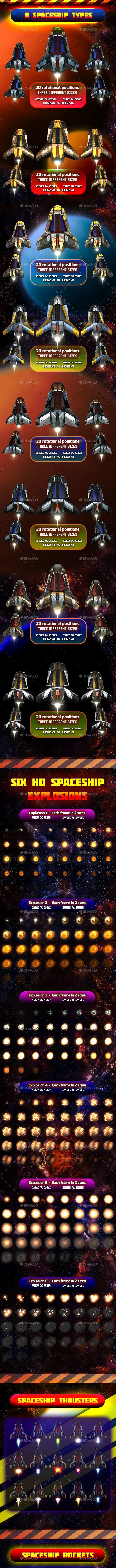 Spaceship Sprites Pack 7