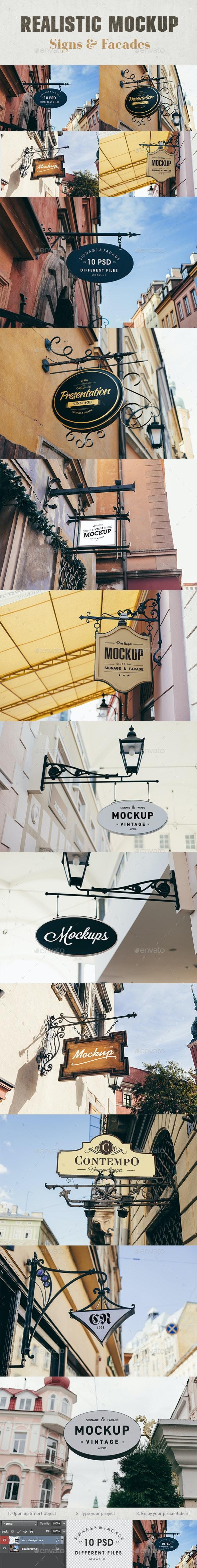 Signage & Facade Mock Up - Signage Print