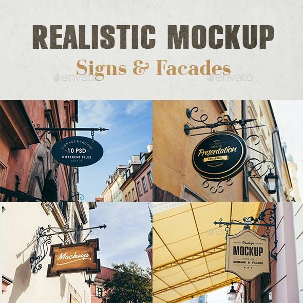 Signage & Facade Mock Up