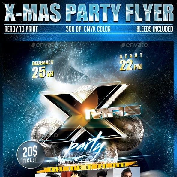 X- mas Party Flyer