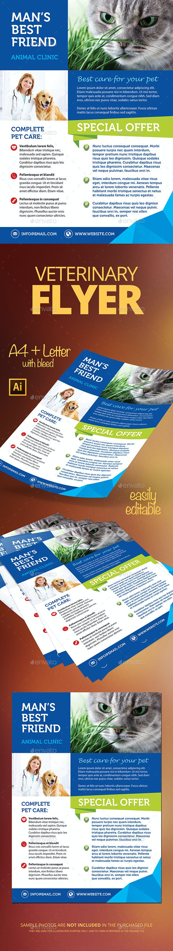 Veterinary Flyer - Flyers Print Templates