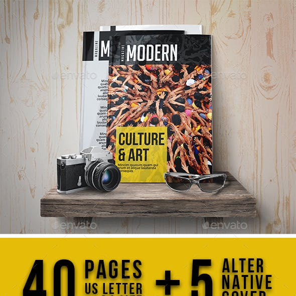 Modern Magazine Template 40 Page