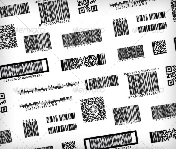 Barcode Samples - Bar code symbols - Decorative Vectors