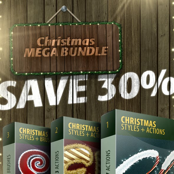 Christmas Actions & Styles - Mega Bundle