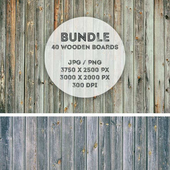 40 Real Wood Backgrounds Bundle
