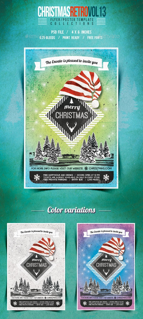 Christmas Flyer/Poster Retro Vol.13 - Events Flyers