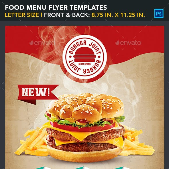 Food Menu Flyer Templates - Burger Joint