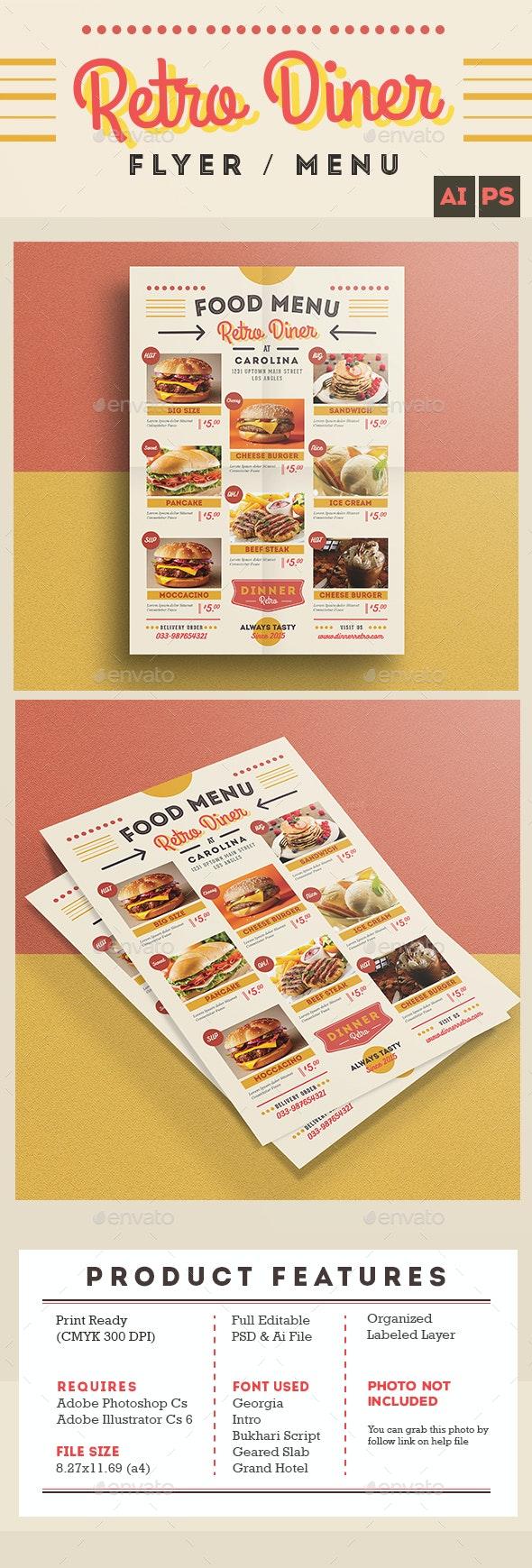 Retro Diner Flyer/Menu - Restaurant Flyers