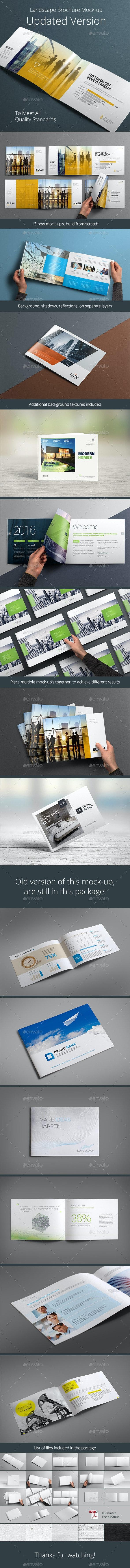 Horizontal Brochure Mock-up - Brochures Print