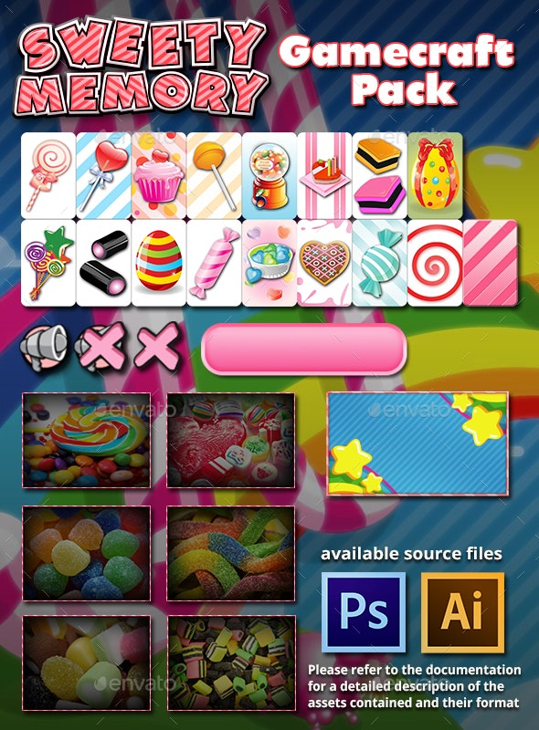 Sweety Memory Game Assets - Game Assets