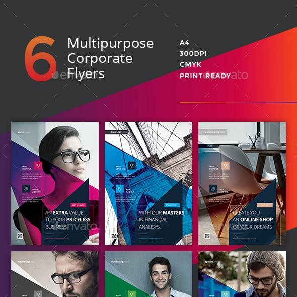 Corporate Flyer - 6 Multipurpose Business Templates vol 19