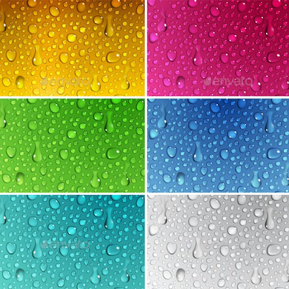 Backgrounds of Water Drops