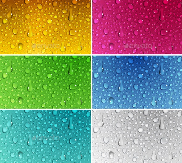 Backgrounds of Water Drops - Backgrounds Decorative
