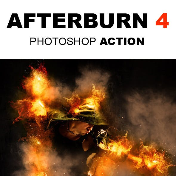 AfterBurn 4 Photoshop Action