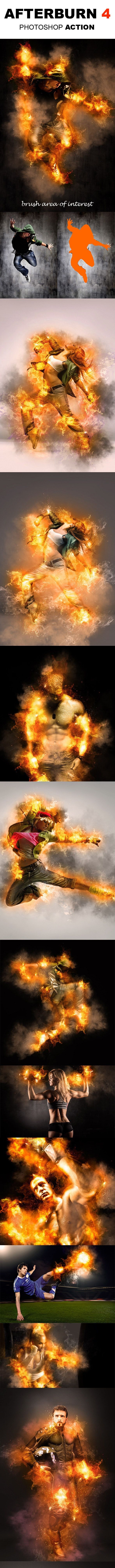 AfterBurn 4 Photoshop Action - Photo Effects Actions