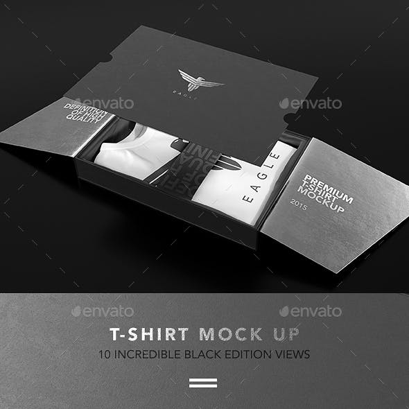 T-Shirt Collection Black Edition Mock up