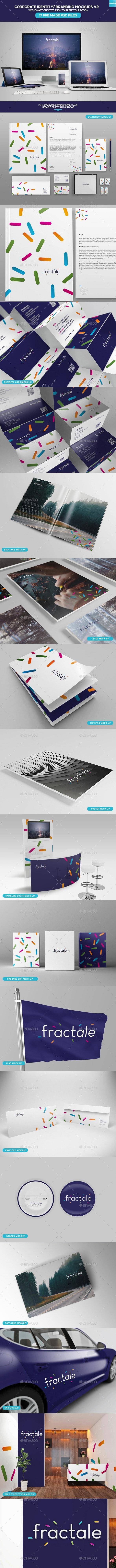 Corporate Identity - Branding Mockups V2 - Stationery Print