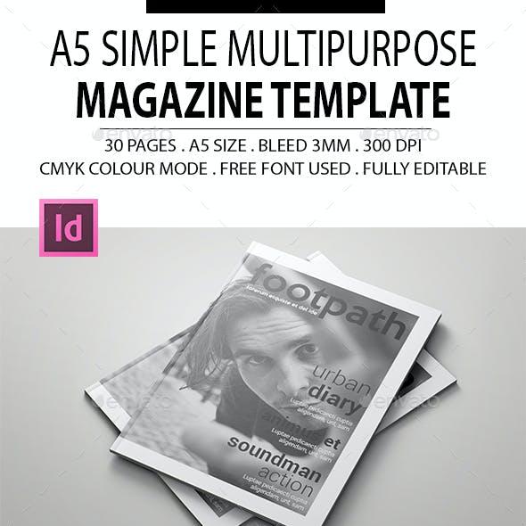 A5 Simple Multipurpose Magazine Template