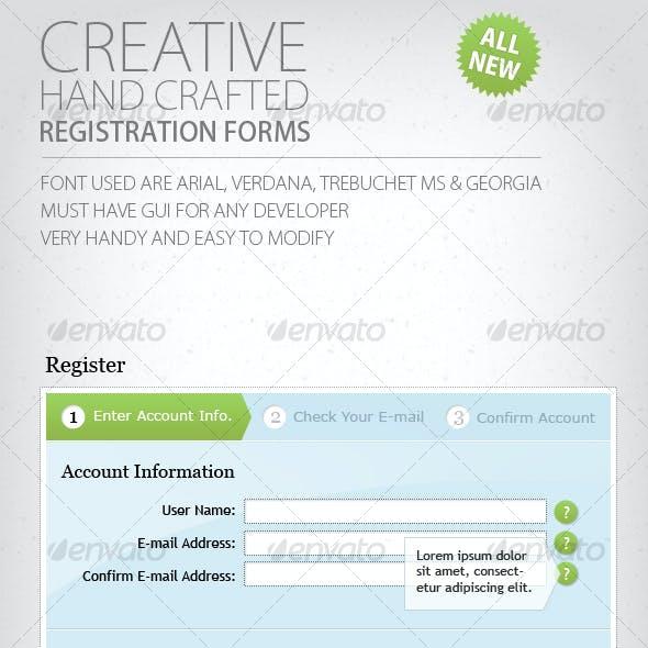 Web 2.0 Registration Forms