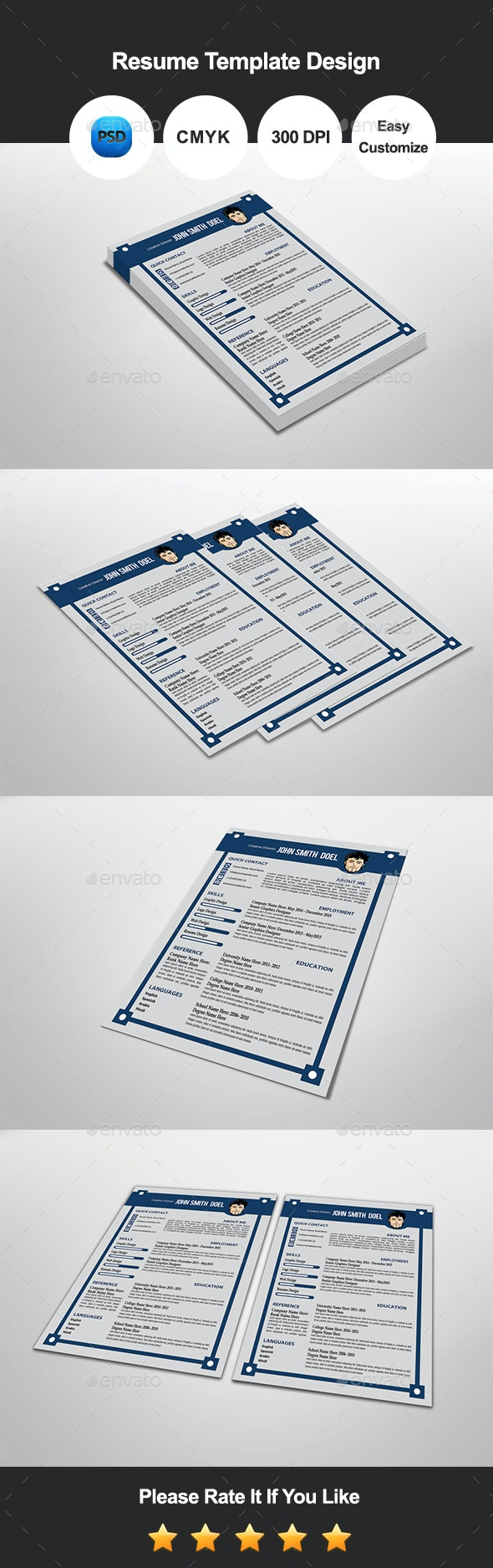Tanli Resume Template Design - Resumes Stationery