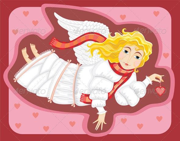 Angel Love Cupid Girl - People Characters