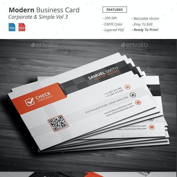 Modern - Corporate Business Card Vol 3