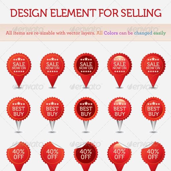 Design Element for Selling