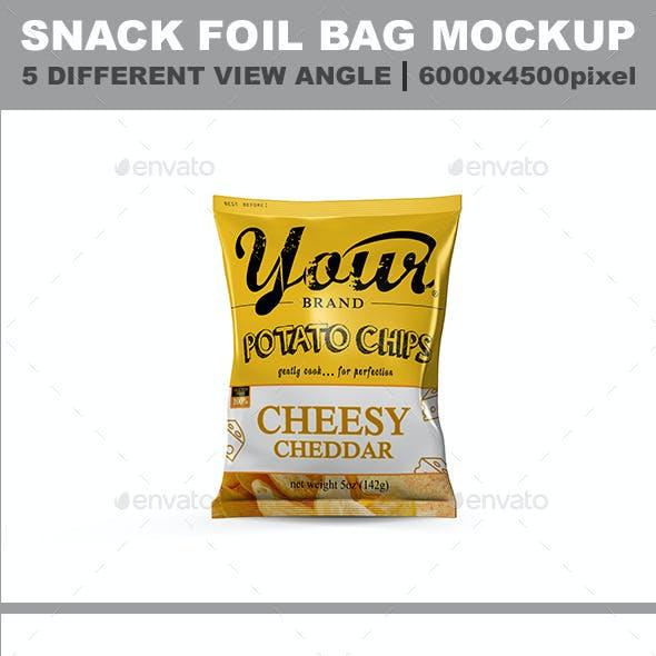 5 Snack Bag Mockup